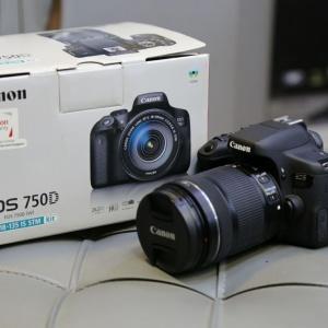دوربین دست دوم canon 750d kit 18_135