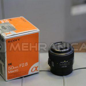 لنز دست دوم sony 50mm f2.8 macro a mount