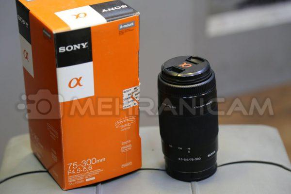 لنز دست دوم sony 75_300mm f4.5-5.6 a mount