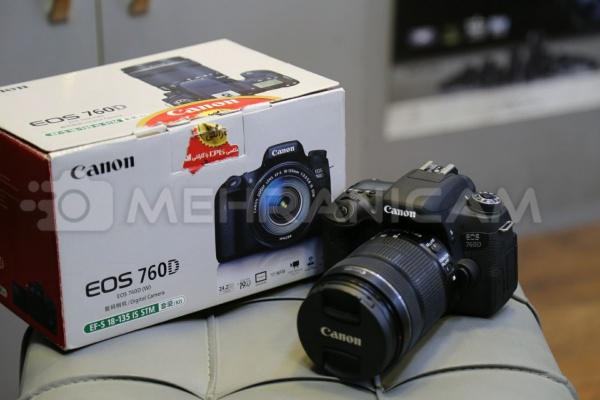 دوربین دست دوم canon 760d kit 18_135mm stm