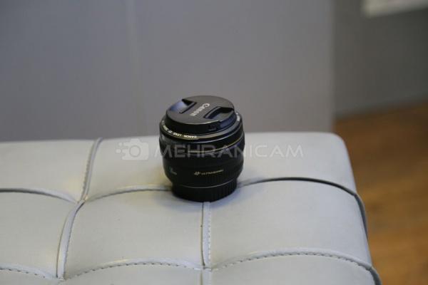 لنز دست دوم کانن canon 50mm f1.4 usm