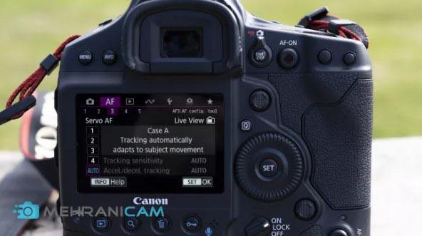 نمایی از منوهای دوربین عکاسی Canon EOS 1D X Mark III بر روی ال سی دی