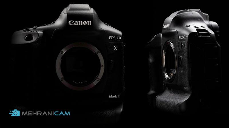 دو نما از بدنه دوربین عکاسی Canon EOS 1D X Mark III