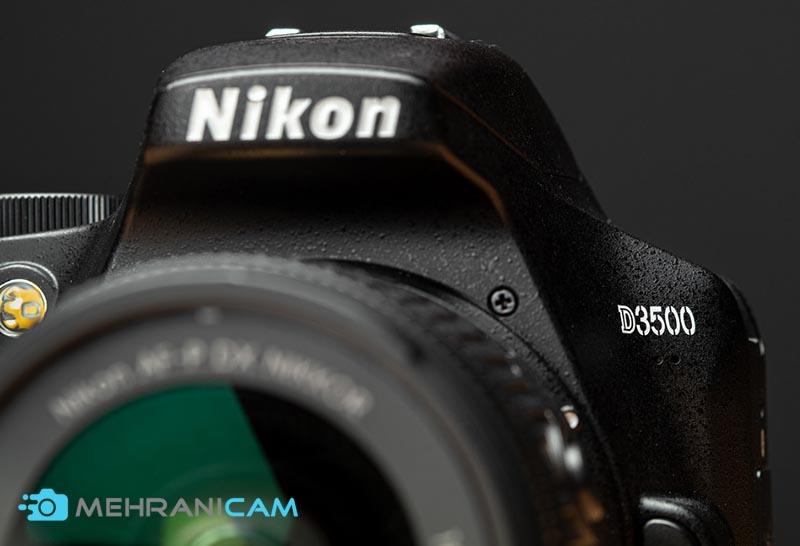 نمای جلوی دوربین Nikon D3500