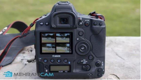 نمایی از ال سی دی دوربین Canon EOS 1D X Mark III