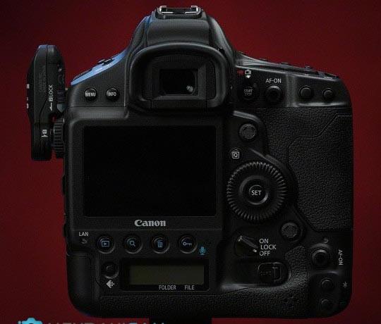 نمایی از پشت دوربین عکاسی Canon EOS 1D X Mark III