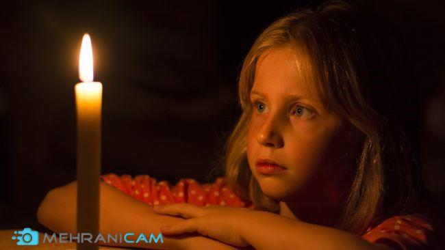 با نور شمع عکسبرداری کنید.