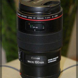 لنز Canon lens 100mm f2.8L IS USM