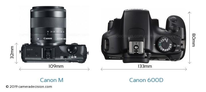 نمای از بالای دوربین عکاسی CANON 600 D